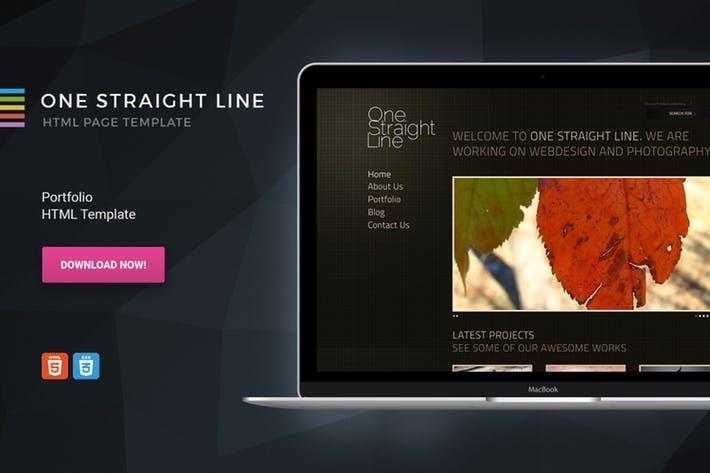 One Straight Line Unique Portfolio Template By Morad On Envato Elements Portfolio Templates Templates Straight Lines