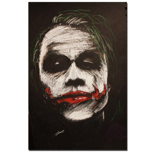 Joker The Legend Heath Ledger Painting Art Posters Canvas Print Wall