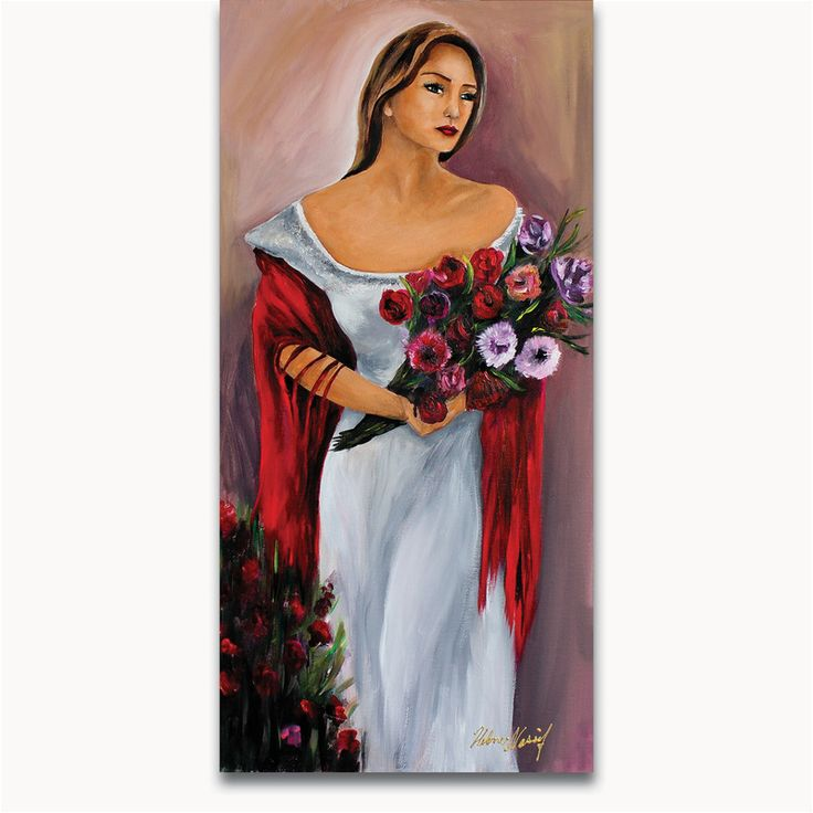 The Silent Rose  Size: 30 x 15 in. Medium used: Oil