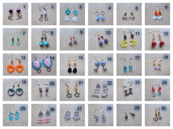 vendo questi orecchini a euro 2.00 l'uno ma se prendete più di uno il prezzo sara di euro 1.50 l'uno