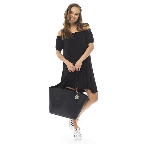 Abito elastico nero disponibile in saldo sullo store online di I Am http://iamstores.com/prodotto/abito-elastici/ #iamstores #fashion #style