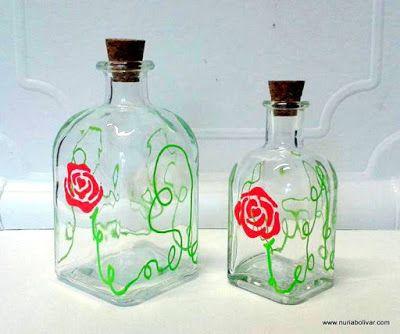 Art i sensacions: Noves ampolles pintades a mà de 10cl i de 5cl.