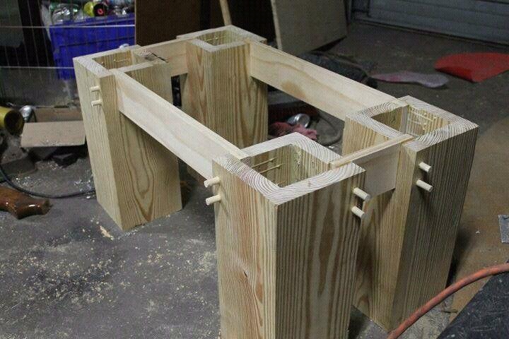 Pine Slab coffee table -- first project! - by bryson @ LumberJocks.com ~ woodworking community