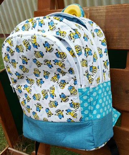 Adventure Time Backpack - Andrie Designs bag patterns  Paper and PDF bag patterns