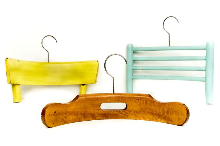 Coat hangers made from chair backs