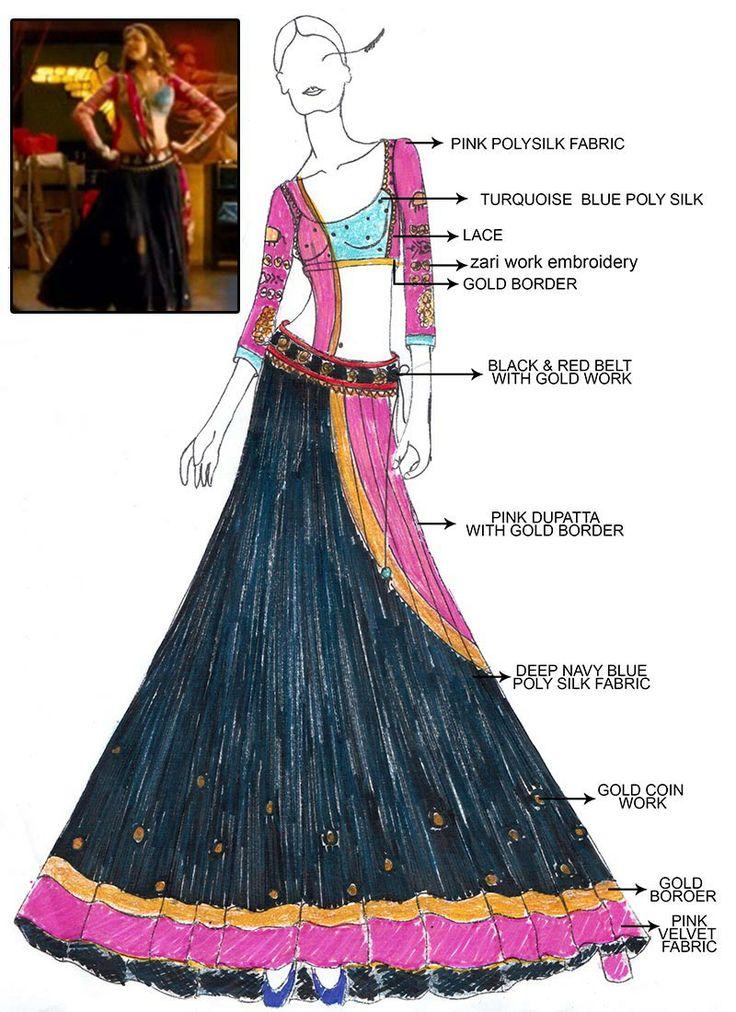 "From the 2013 Bollywood film ""Ram Leela"" - costume design by Delhi based fashion designer Anju Modi http://www.littleredtote.com/component/k2/item/725-ram-leela-characters-anju-modi-deepika-padukone-priyanka-chopra"