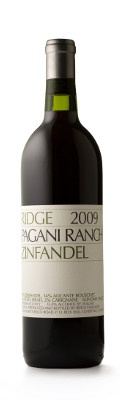 Ridge 2009 Pagani Ranch Zinfandel - absolutely fabulous! We had this with bbq pork ribs and corn on the cob, ranch-style beans and sourdough garlic bread. It was a perfect match for our anniversary dinner. We loved it to the last drop.