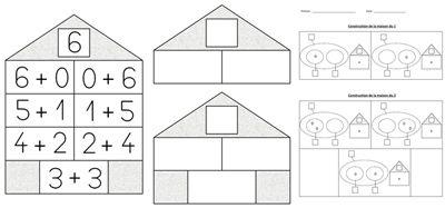 maison nombres num ration maternelle pinterest maisons calcul et math matiques. Black Bedroom Furniture Sets. Home Design Ideas