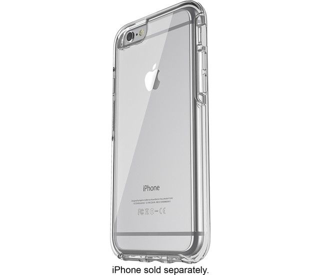 OtterBox - Symmetry Series Back Cover for Apple iPhone 6 and 6s - Clear - Front Zoom