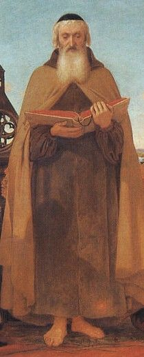 Detail from Ford Madox Brown, Wycliffe Reading his Translation of the New Testament to his Protector, John of Gaunt, 1847-48.