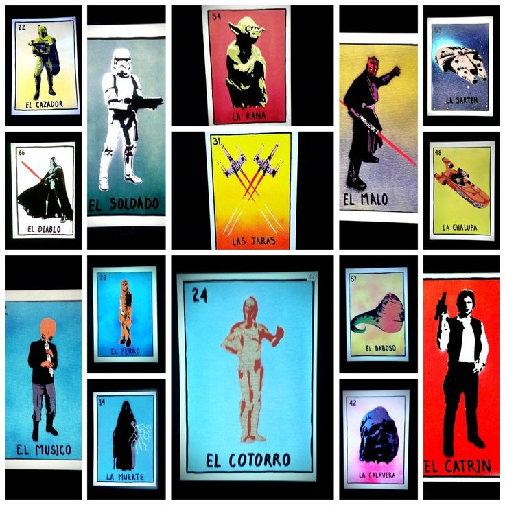 Estar Guars Loteria Postcards by Roman Martinez