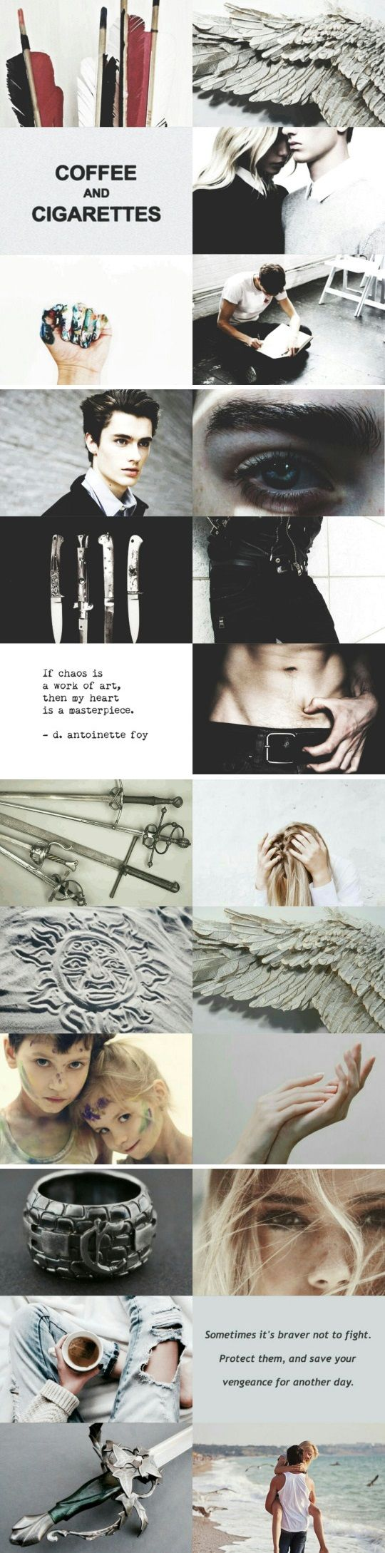 "Julian Blackthorn and Emma Carstairs. ""Coffee and Cigarettes"" is also a great song by Nevershoutnever. Yeah. Music."