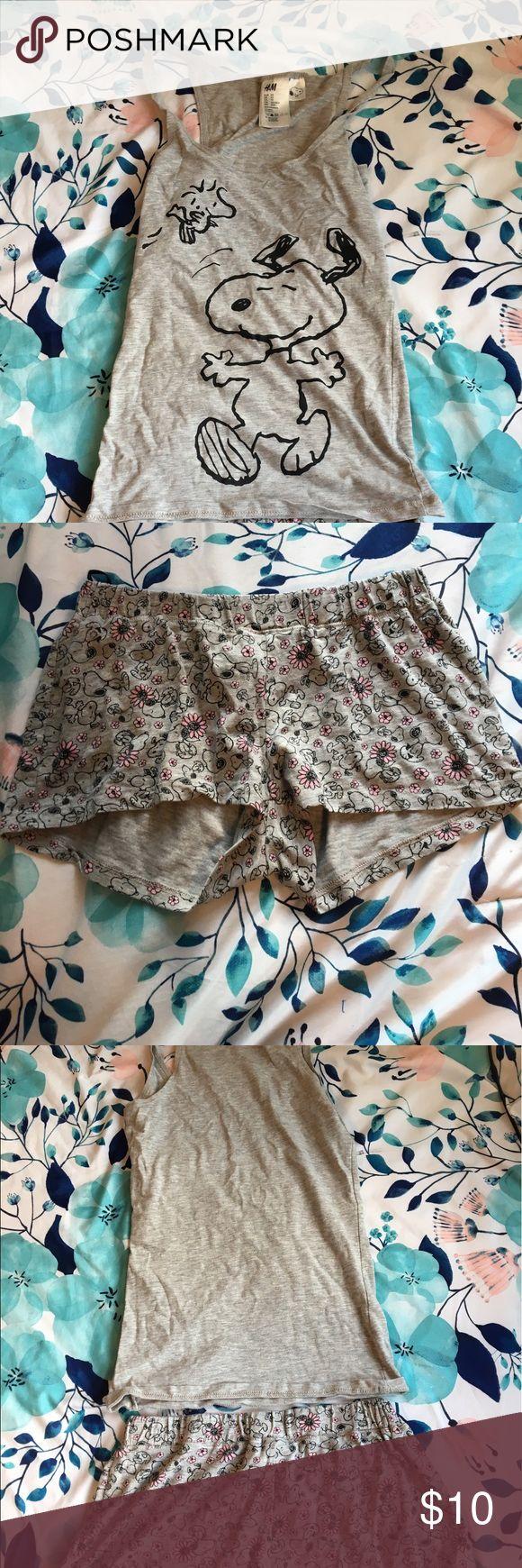 Snoopy pajamas •Snoopy tank top and shorts Intimates & Sleepwear Pajamas