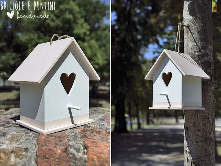 birdhouse - casetta per gli uccelli fatta a mano
