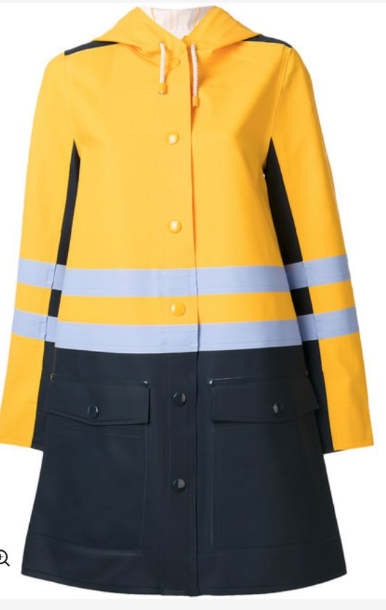 Rain Rain Go Away! Get details on Savannah Guthrie's Rain Coat here: https://www.bigblondehair.com/savannah-guthries-yellow-blue-striped-raincoat/ #TodayShow