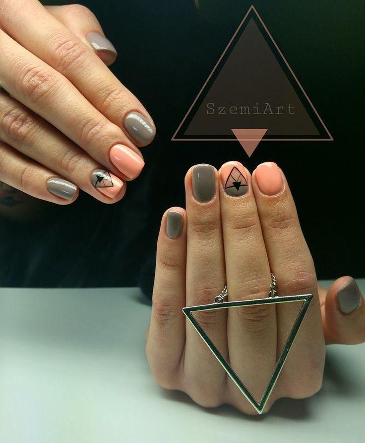 triangle, nails, nailart, gellack