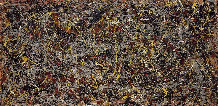 «№5, 1948», Джексон Поллок.Одна из самых дорогих полотен в мире – это работа американского художника Джексона Поллока «№5, 1948». К слову, автор внес довольно весомый вклад в развитие абстрактного экспрессионизма. Самая дорогая картина - №5, 1948.Картина  написана на листе ДВП и имеет размеры 2,5 на 1,2 метра. Автор наносил небольшое количество желтых и коричневых брызг сверху, и это сделало картину похожей на большое гнездо. Шедевр ушел за рекордные 142,7 миллионов долларов.