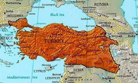 "Erdogan vows to recapture all lands once held by the Ottoman Empire, and more --- Jihad Watch: ""We say at every opportunity we have that Syria, Iraq and other places in the geography [map] in our hearts are no different from our own homeland. We are struggling so that a foreign flag will not be waved anywhere where adhan [Islamic call to prayer in mosques] is recited.""..."