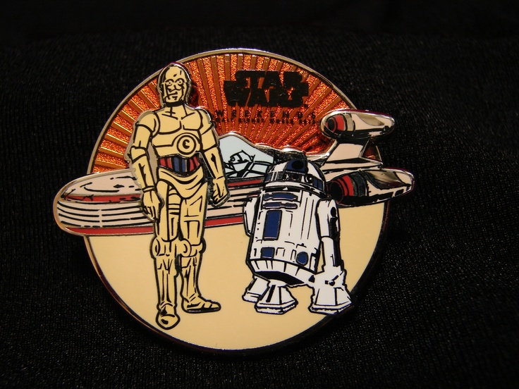 Disney pin. Limited Edition C3PO and R2D2