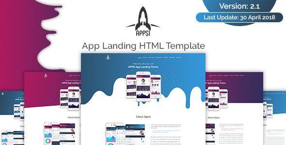 APPSI-App Landing HTML Template #HTML5 #WebDesign #portfoliothemes