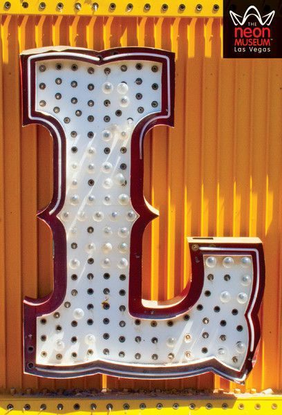 Alphabet letter magnet based on signs at Las Vegas's Neon Museum. They do A-Z, plus symbols! $2.95