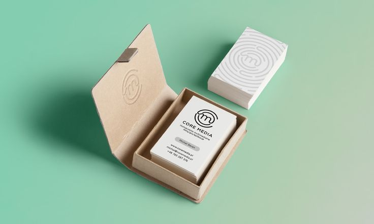 Media Core - translations bussines cards - by Lotne Studio