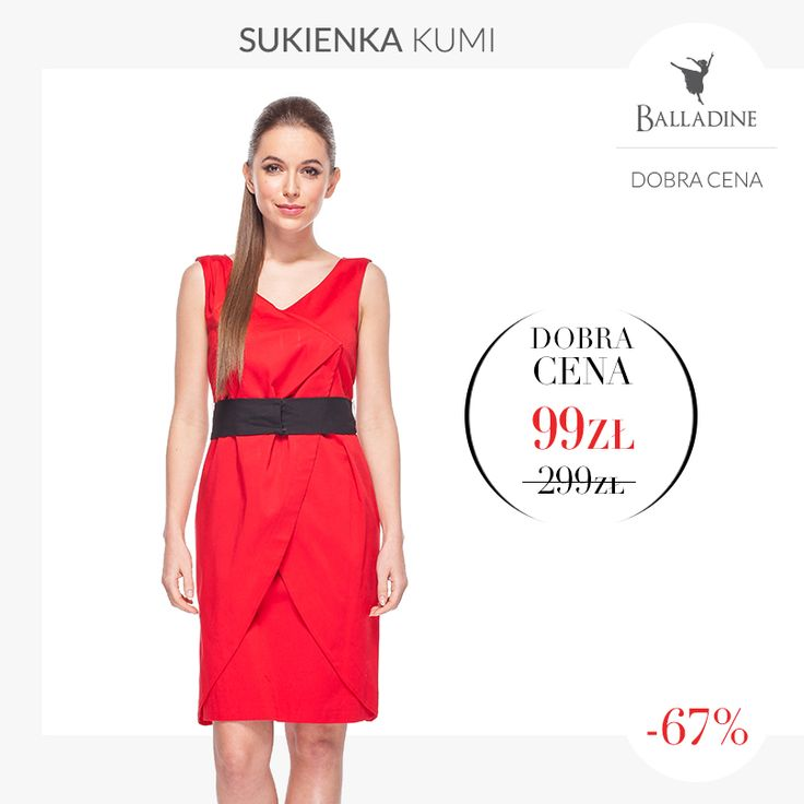 Dopasowana sukienka z kopertowym przodem w kolorze, który nigdy nie wyjdzie z mody - teraz w jeszcze lepszej cenie!    Sukienka Kumi | http://goo.gl/8CQkJG
