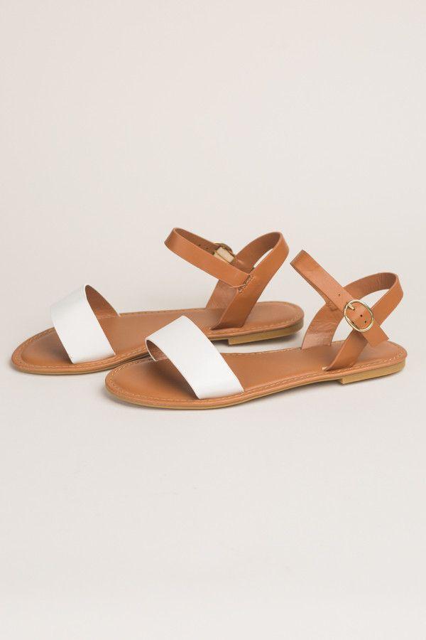 34b813b7e Chesapeake Bay Slingback Sandals in White + Tan