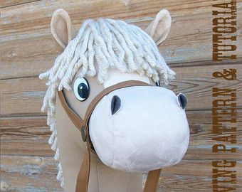 Make your own cartoon style stick horse in horse or pony size! >WHAT IS INCLUDED  -Detailed step by step instructions -Photos that accompany each step -Full size pattern pieces for the Horse and Pony sizes -Tips for the best results -Options for some steps that can be done in a couple different manners -List of vendors for items such as the safety bolted eyes I use  Prints on standard 8.5 x 11 printer paper. Some pieces need to be joined with tape to create the full size template. You will…