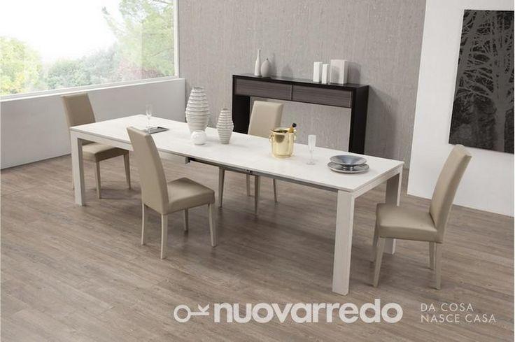Nuovarredo - Scheda prodotto: 744050-Tavolo rettangolare in larice grigio - Tavoli in stile Moderno