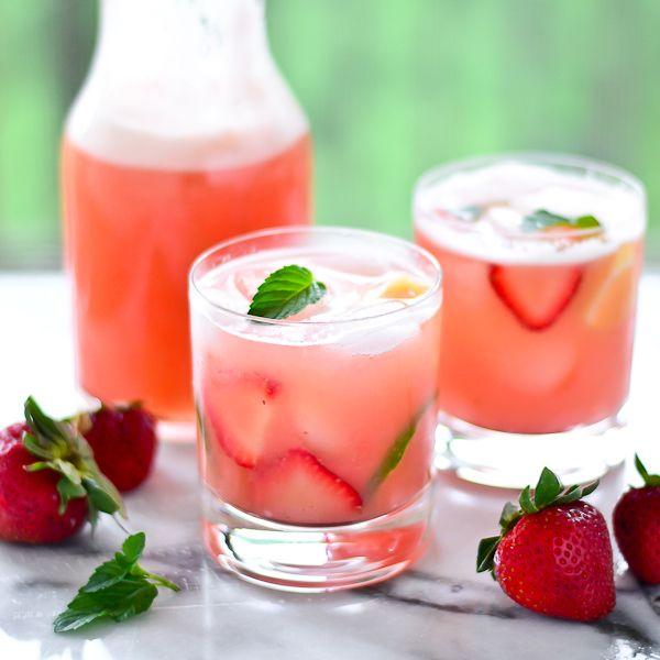 Strawberry-Pineapple Agua Frescas