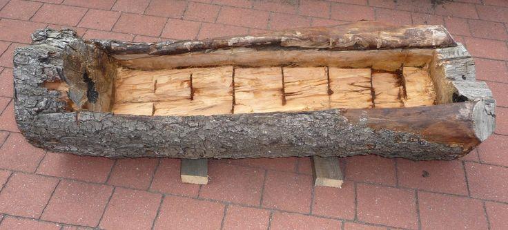 Ręko-czyny: Donica z kłody drzewa
