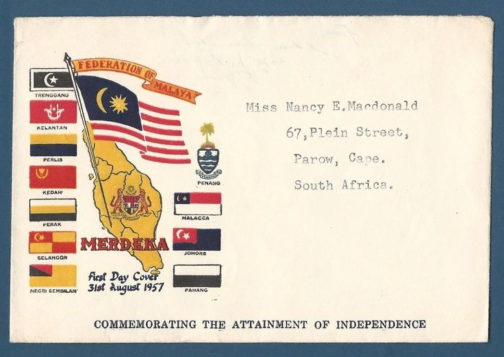 #Malaya 31 Aug 1957 #Independence Day First Day #Cover #FDC #Muar Cancel #Johore #philately #stamps #collectable