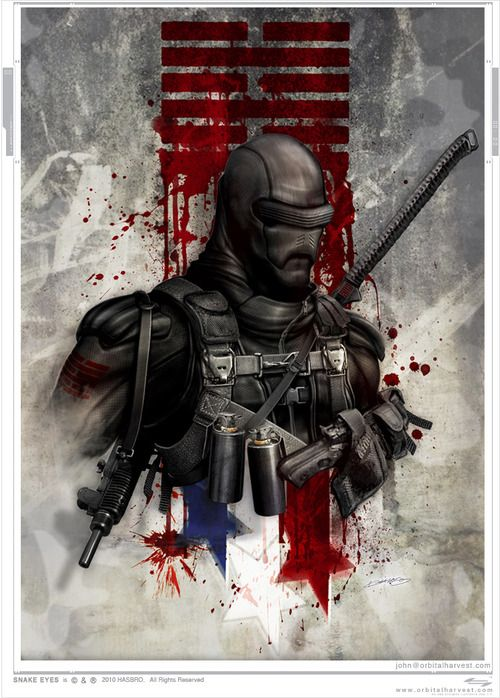 Snake Eyes G.I. Joe by John Giang / orbitalharvest