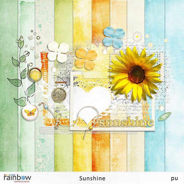 digitális scrapbook freebie Sunshine - free for my facebook fans