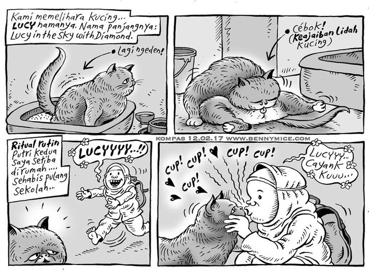 MICE CARTOON - KUCING Karya: Muhammad Misrad Sumber: Kompas Minggu - 12 Februari 2017