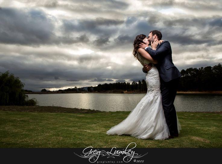 Creative wedding photo with in winter at Ashanti