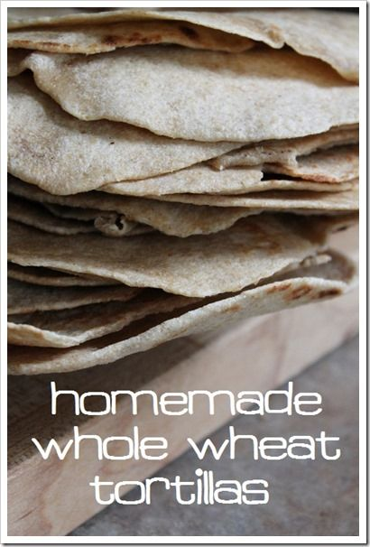 Only 4 ingredients for the Best Homemade Whole Wheat Tortilla Recipe (updated!) :: via Kitchen Stewardship