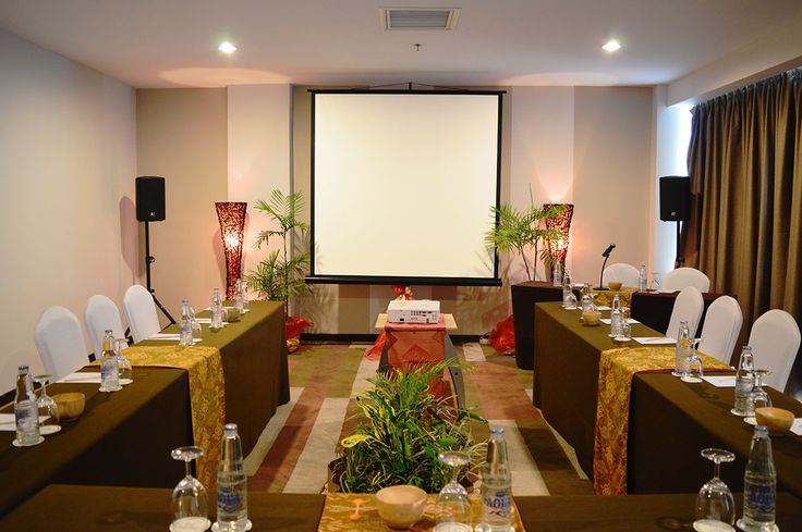 "Buleleng Meeting Room ""b Hotel Bali""   Buleleng Room is located at the 6th floor, featuring 45 m2 of space can be catering up to 50 people altogether. The meeting room has front yard that can be used for purpose of reception area, cocktails table and registration desk."