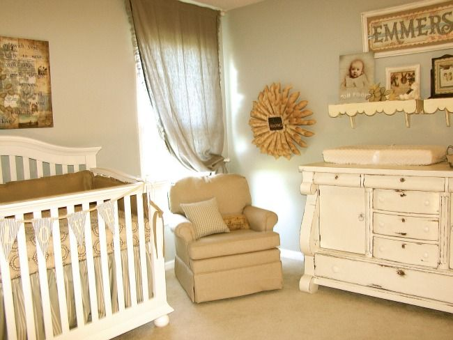 Vintage Neutral Girls Nursery Nursery Pinterest
