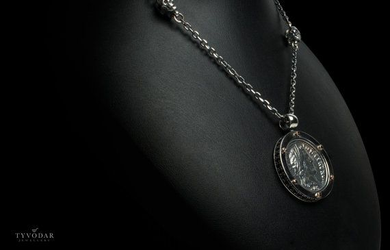 Antique coin II  Necklace made of gold / silver antique by TYVODAR