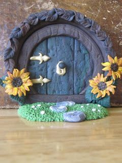 Creator's Joy: Hobbit Doors out of Fimo or Sculpey: polymer clay fairy house: