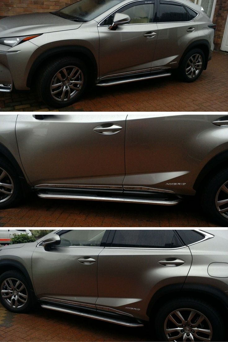 Kevin has fitted our 'Premier' steps to his Lexus NX300h.  These look really cool, as does the Lexus! #4x4 #Direct4x4 #Lexus #NX300h #SideSteps #GreatFeedback #HappyCustomers