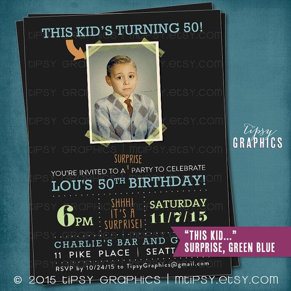 Milestone Surprise Birthday Party Invite. This Kid's by MTipsy