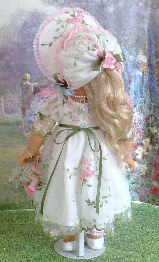 Summer Sweetness Gown and Bonnet for by MyGirlClothingCoHeir