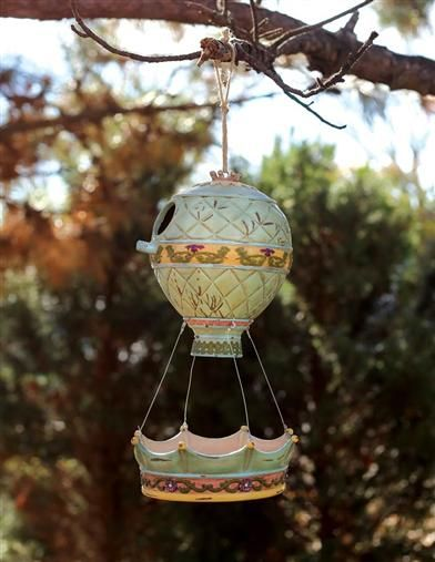Hot Air Balloon Bird House And Feeder