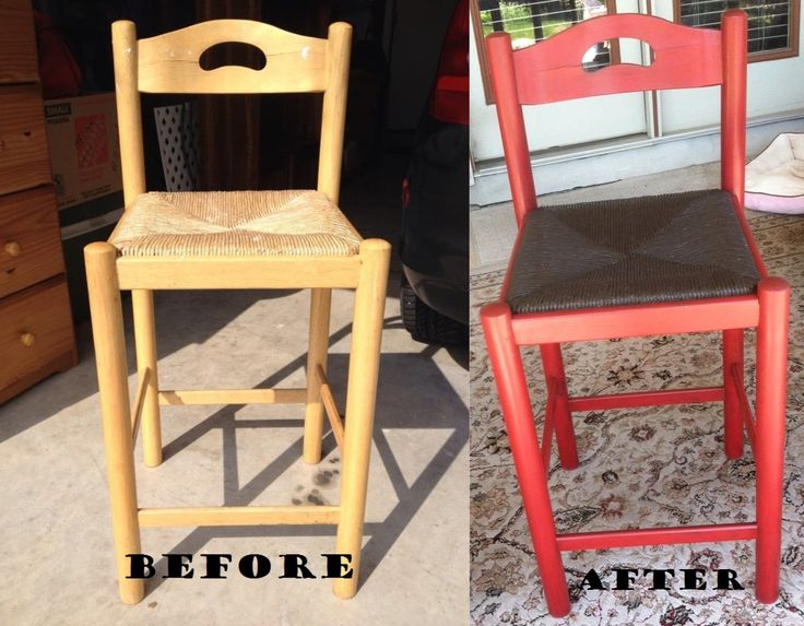 Old Red Plaster Paint With Espresso/Paste Wax Mix. Seat In Espresso.  Finished