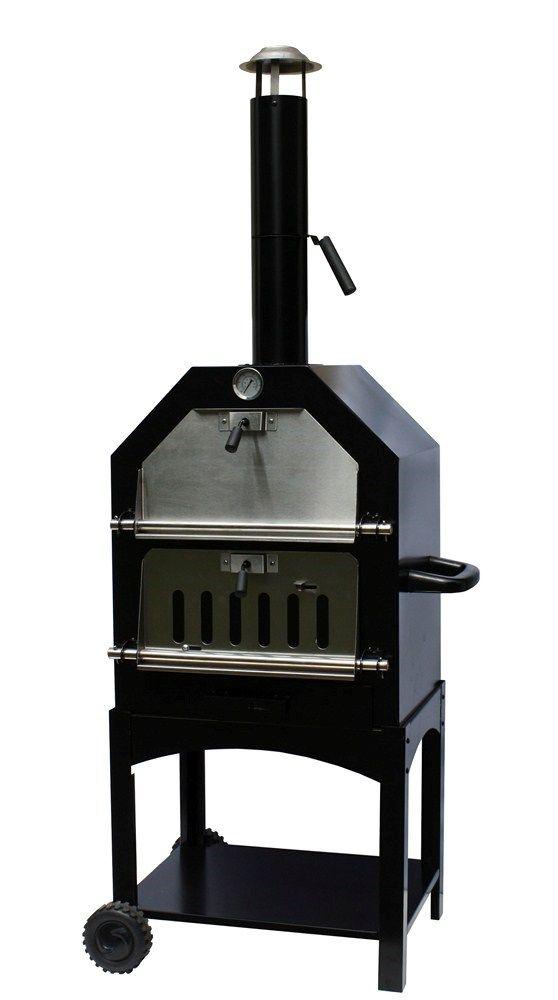 De Pizza oven van Outtrade is een zeer praktische pizza oven die eenvoudig is om te bouwen tot een barbecue!    Wie wil dat nou niet? Een pizzaoven in de tuin! Maak gezellig je eigen pizza met je eigen houtgestookte pizza oven! Even geen zin in een pizza? Vervang dan de bakplaat eenvoudig door een barbecuerooster en ga lekker barbecueën!    Onze prijs:  Nu slechts € 259,00