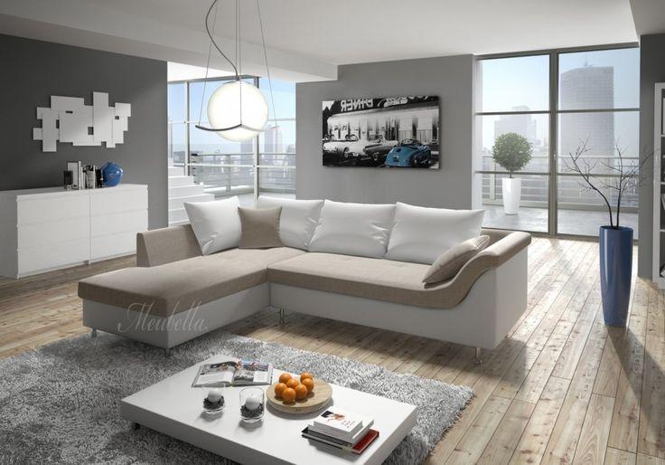 Hoekbank Alvida is een bank gemaakt van beige kunstleer + lounge. Dit bankstel is 247cm breed. Op onze banken ontvang je 3 jaar garantie. Direct leverbaar!