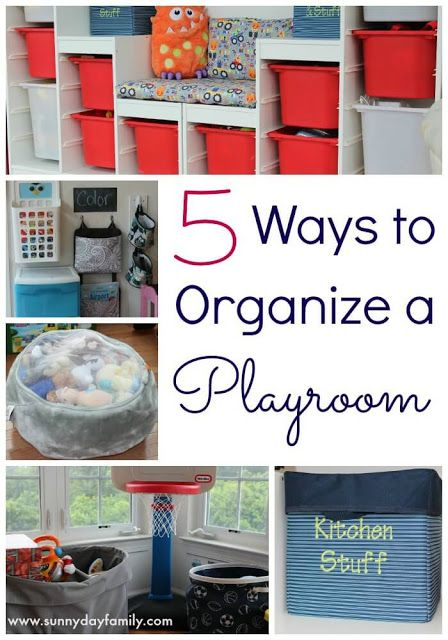 Tame the toy clutter and design an organized, inviting playroom with these easy toy storage tips!